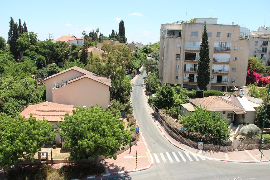 Typische Straßenszene in Ness Ziona. Sehr wenig Verkehr, eng aneinander liegende Häuser, gesäumt von Bäumen und Blumen /Fotos (5): B. Glumm